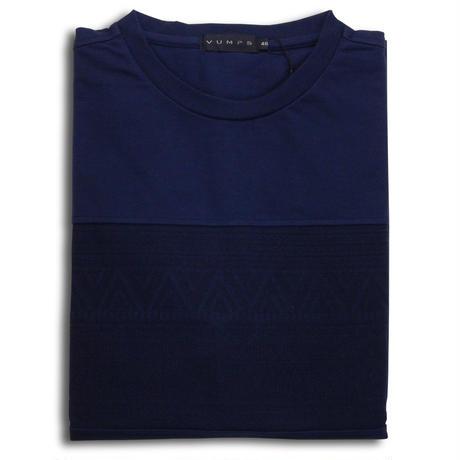 VUMPS パネルジャガード長袖Tシャツ