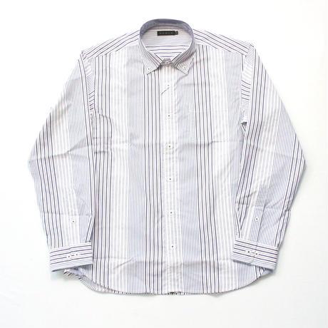 VUMPS ストレッチストライプシャツ
