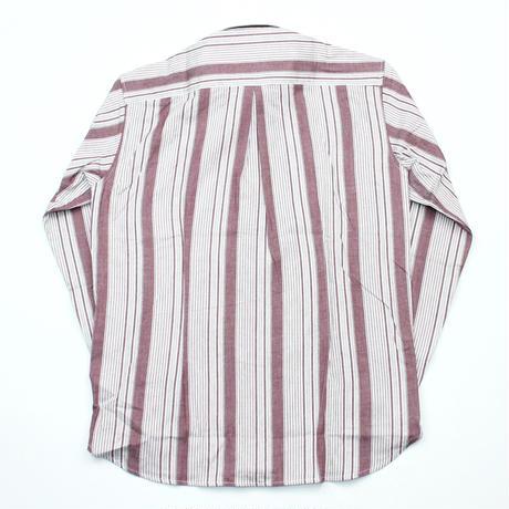 VUMPS マルチストライプ 長袖起毛ネルシャツ レッド