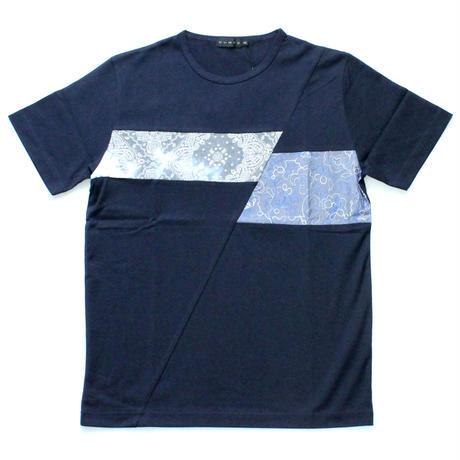 VUMPS バイアス切替Tシャツ