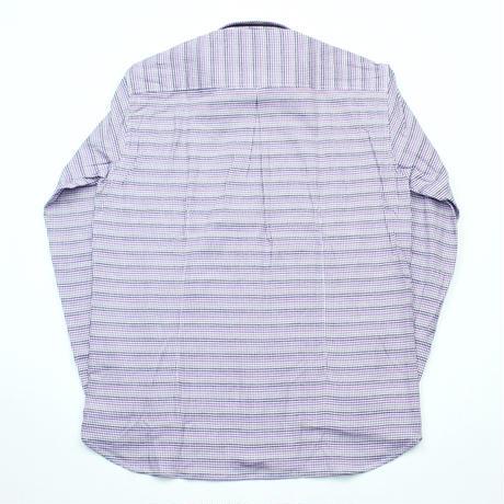 VUMPS ハウンドトゥース 長袖起毛ネルシャツ パープル