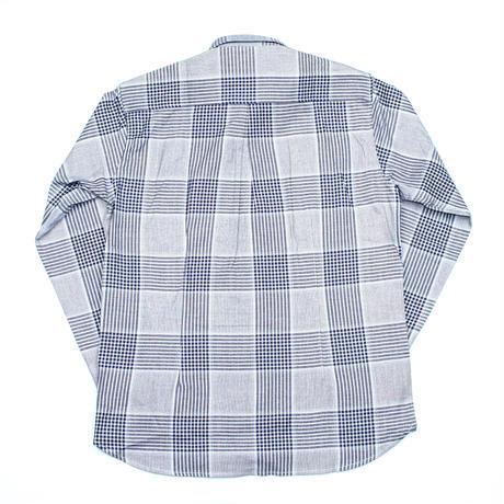 VUMPS ビッグチェック 長袖起毛ネルシャツ ブルー