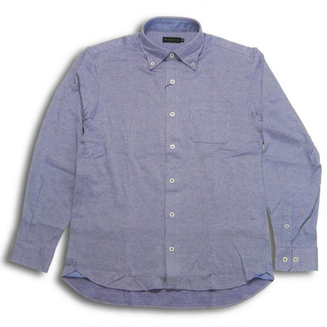 VUMPS ストレッチバーズアイBDシャツ パープル