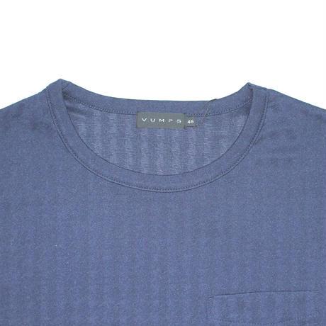 VUMPS ブリスタージャガード 長袖Tシャツ ブルー