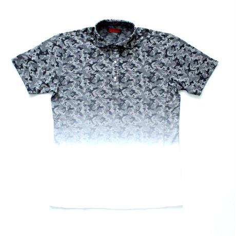 VUMPS RED ジャカードグラデーションポロシャツ