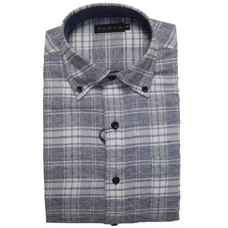 VUMPS 起毛撚り杢チェックBDシャツ