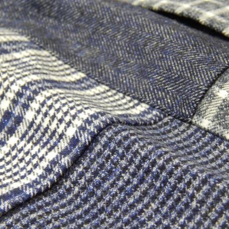 VUMPS 起毛パッチワークBDシャツ