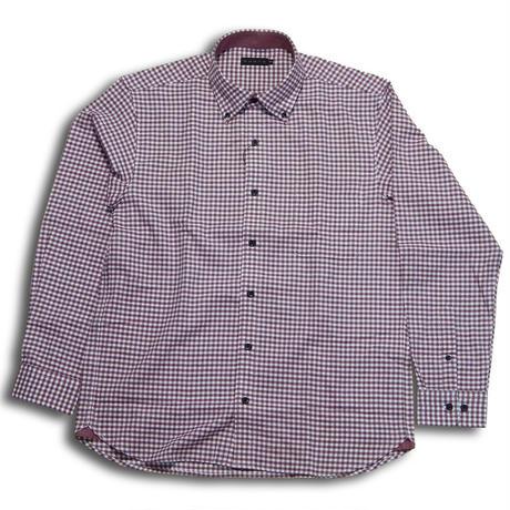 VUMPS 起毛ギンガムチェックBDシャツ