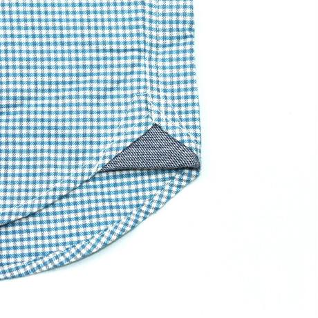 VUMPS ギンガムチェック 長袖起毛ネルシャツ グリーン