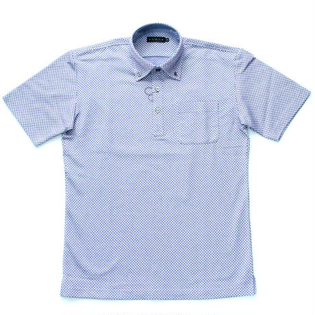 VUMPS ミニパターンジャカードポロシャツ