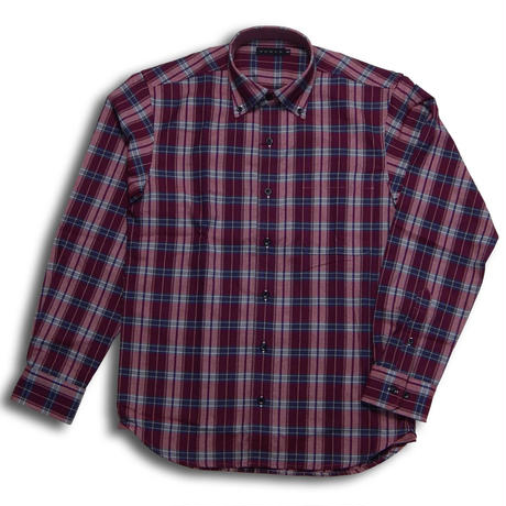 VUMPS 起毛へリンボンチェックBDシャツ