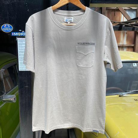 BUBBLE HEAD 製品染めポケット付きTシャツ