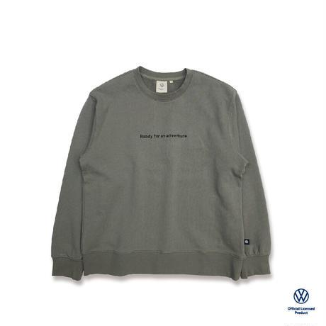 オーガニックコットンVANAGONバックプリントスウェットシャツ