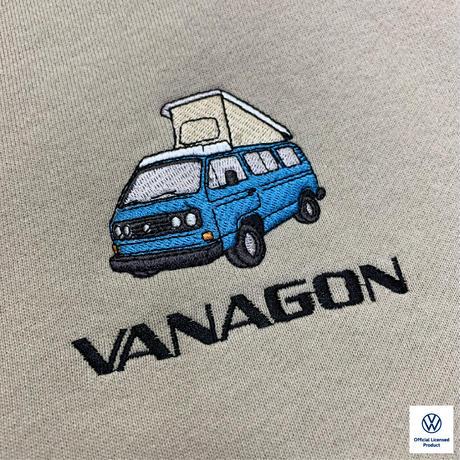 オーガニックコットンVANAGON刺繍スウェットパーカー