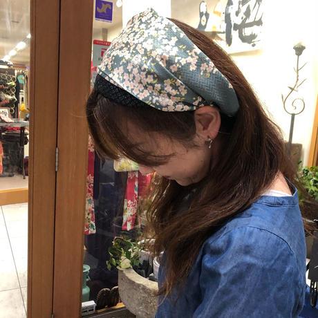 着物リメイク☆ラメラメ×小花ヘアターバン