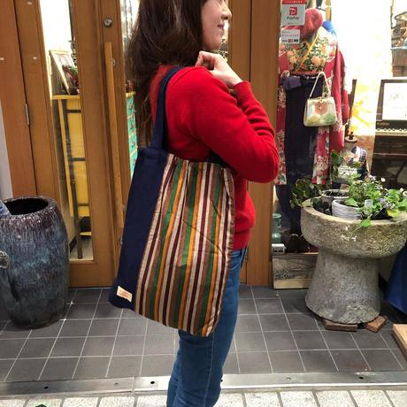 着物リメイク☆ショルダーバッグ古典的な縞