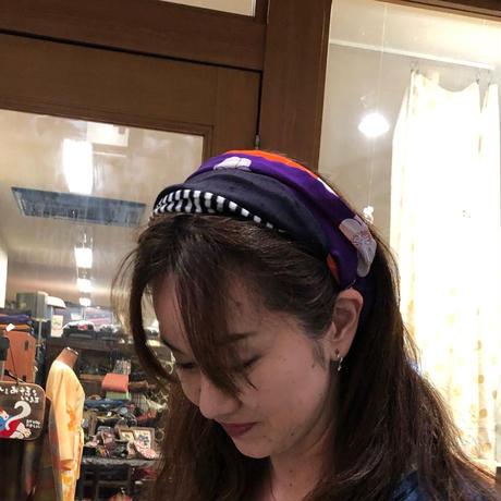 着物リメイク☆古布づかいヘアターバン