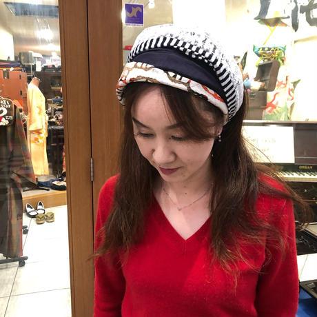 着物リメイク☆ろうけつ染めヘアターバン