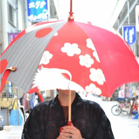 アンティーク着物のクレイジー日傘