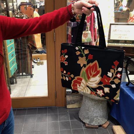 帯リメイク☆紅葉の手提げバッグ