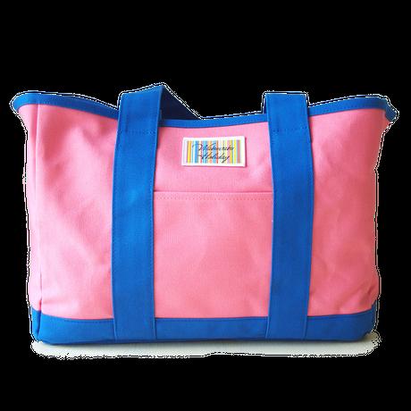 ハンドメイド8号帆布バイカラービッグトート(ピンク×ブルー/キャンバス)