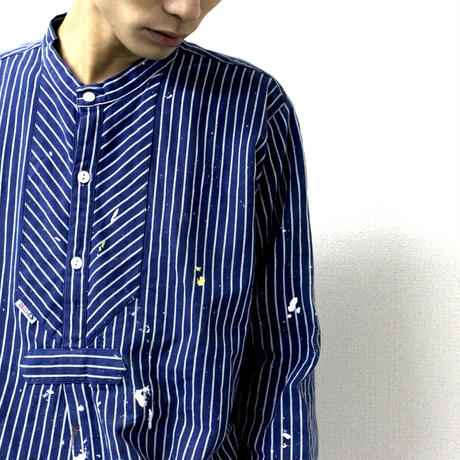 old Germany Fisherman shirt from Europe ドイツ ユーロワーク シャツ ヨーロッパ ヨーロッパ古着