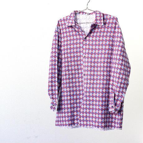 Open collar Total pattern shirt from Europe ヨーロッパ ヨーロッパ古着 シャツ 総柄シャツ 開襟シャツ ユーロ 春シャツ