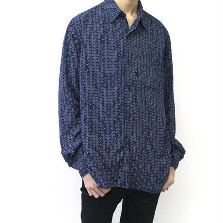 """agnes b. "" pattern shirt made in France アニエスベー アニエス フランス製 ヨーロッパ ヨーロッパ古着 イタリア ドイツ ユーロ"