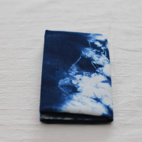 藍染め手ぬぐい 型染め「猫」デザイン
