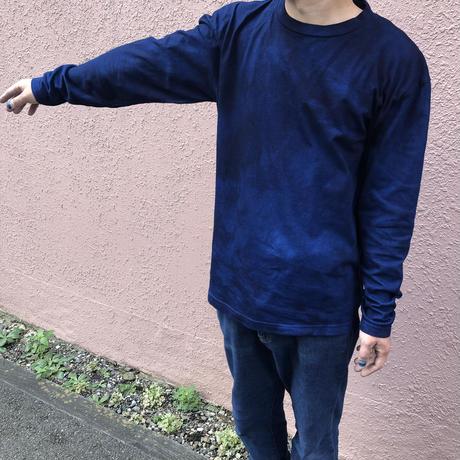 オールシーズンに活躍!藍染めロングスリーブTシャツ 濃淡染め 男女兼用