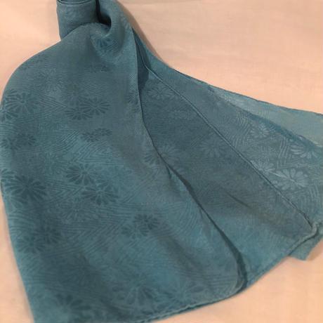 日頃の感謝を込めて大特価!!『一点物』&コロナに負けるな!!藍の宝石染め シルクストール 中判 125×30cm 花柄『一点物』