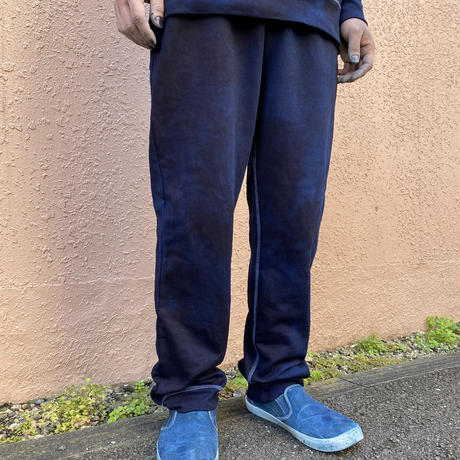 オールシーズンに活躍!藍染めスウェットパンツ10.0oz 濃淡染め技法 男女兼用