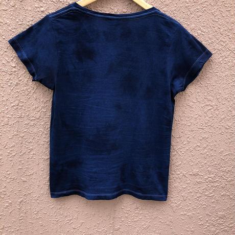 日頃の感謝を込めて大特価!!&コロナに負けるな!!藍染めレディースTシャツ  濃淡染め技法
