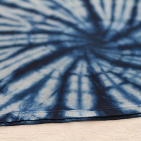 渦絞り模様 藍染めTシャツ