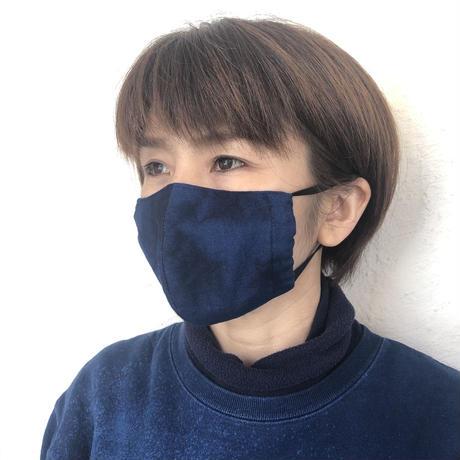 秋冬に最適!藍染めの保温性!藍染め布マスク勝ち色(立体タイプ)
