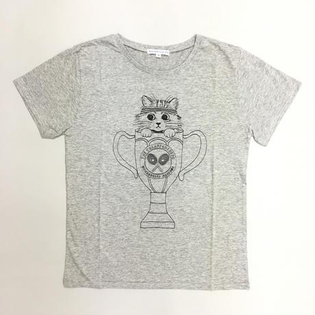 TENNIS CAT T-SHIRTS  GRAY/ テニスキャットTシャツグレー