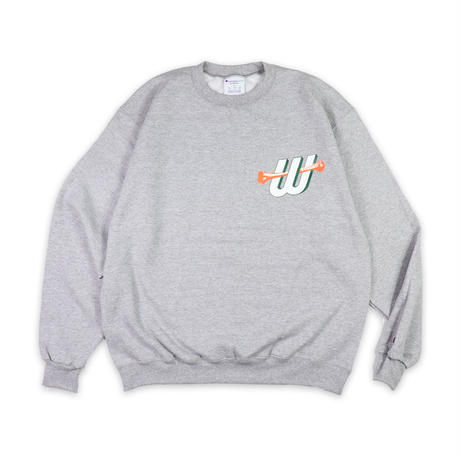 W-BONES CREW NECK SWEAT SHIRTS