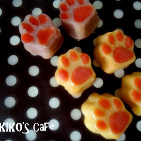 肉球ミニケーキ12個&天然素材カラフルクッキー100gセット