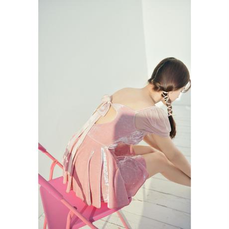 VELVET LILY SKIRT(pink)