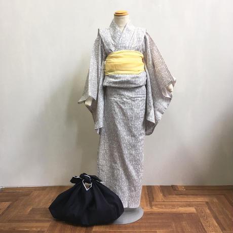 KIDSオリジナル浴衣「波」グレー