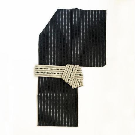 紳士浴衣「黒縞」