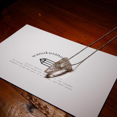 ガネーシュヒマール産ヒマラヤ水晶(クリア)シルバーネックレス
