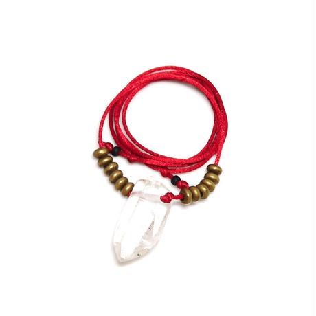 ガネーシュヒマール産ヒマラヤ水晶 真鍮パーツネックレス(クリア)A