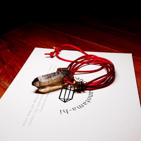 ガウリシャンカール産ヒマラヤ水晶(スモーキー)真鍮パーツネックレス B
