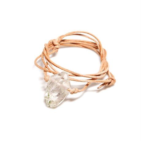 ガネーシュヒマール産ヒマラヤ水晶 ネックレス(クリア、クローライト)