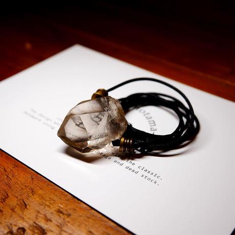 ガウリシャンカール産ヒマラヤ水晶(ライトスモーキー)真鍮パーツネックレス A
