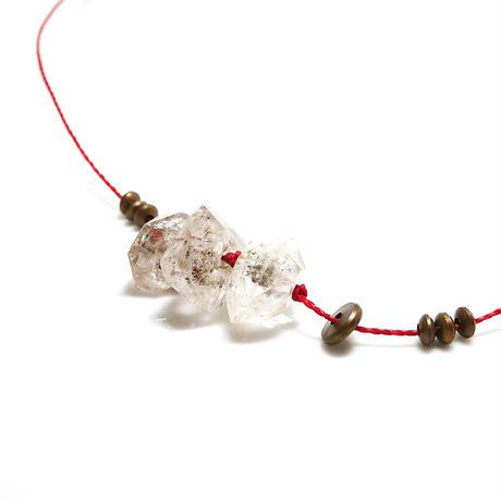 ダブルポイント水晶 3連ネックレス
