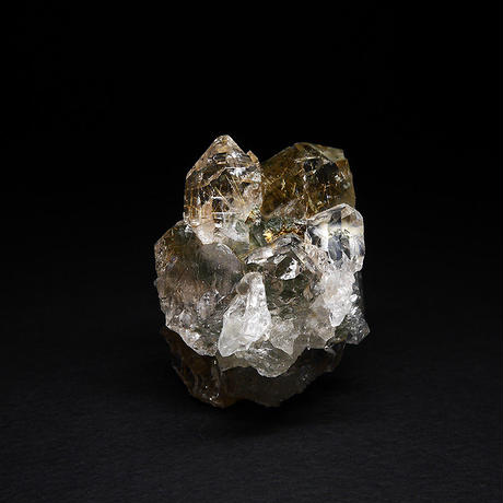 ルチル入りヒマラヤ水晶クラスター(ガネーシュヒマール)