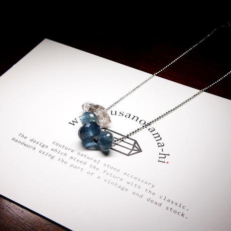 モスアクアマリン・ヒマラヤ水晶 ネックレス