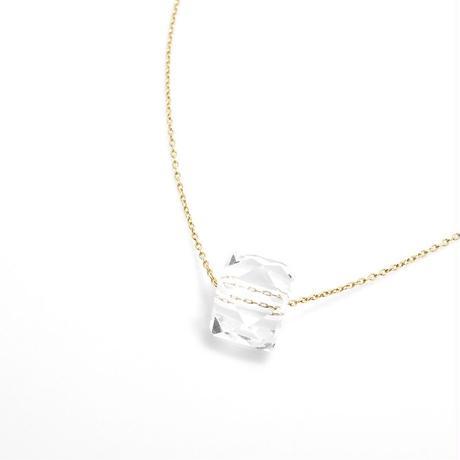 クリスタル・トパーズ ネックレス K10  50cm